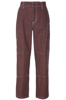 Коричневые брюки Daino work Daily Paper