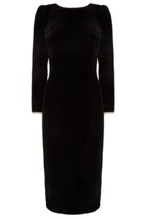 Черное платье со стразами Gucci