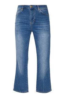 Голубые широкие джинсы Victoria Beckham