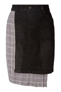 Асимметричная комбинированная юбка Each x Other