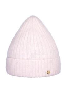 Светло-розовая шапка в рубчик Canoe