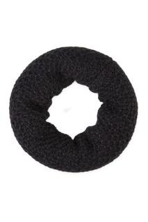 Черный вязаный шарф Canoe