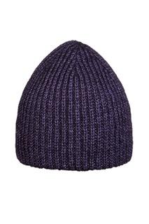 Темно-фиолетовая шапка в рубчик Canoe