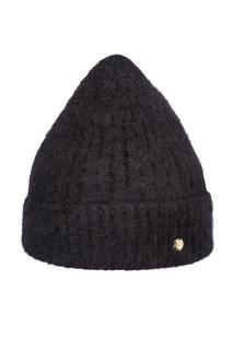 Черная фактурная шапка Canoe