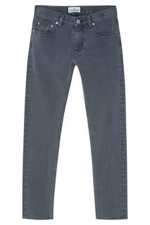 Серые джинсы из хлопка Stone Island