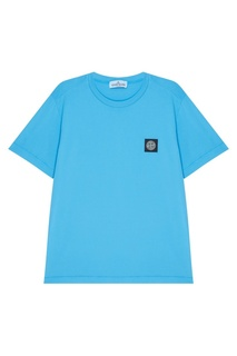 Голубая футболка Stone Island Kids