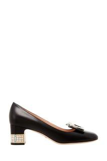Черные кожаные туфли Gucci