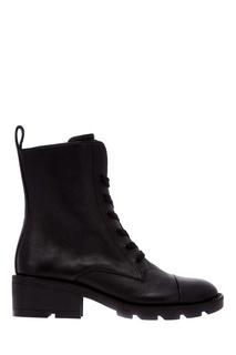 Черные кожаные ботинки Kendall+Kylie