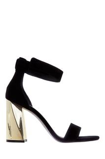 Черные босоножки на каблуке Kendall+Kylie