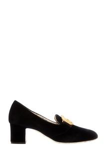 Черные бархатные туфли Gucci