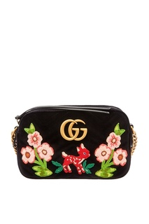 Сумка с вышивкой GG Marmont Gucci
