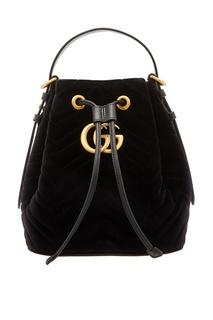 Черный рюкзак GG Marmont Gucci