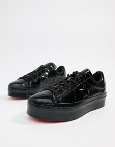 Черные кроссовки на платформе Converse One Star - Черный