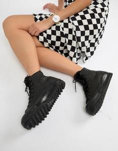 Черные кроссовки с искусственным мехом и рифленой подошвой Converse Chuck Taylor - Черный