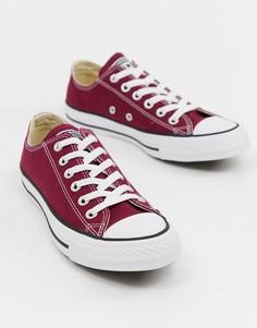 Converse Chuck Taylor All Star ox burgundy trainers - Красный