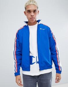 Синяя спортивная куртка с логотипом на рукаве Champion - Синий