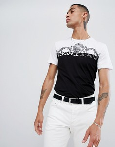 Футболка с логотипом и принтом в стиле барокко Versace Jeans - Белый