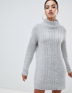 Платье-водолазка AX Paris - Серый