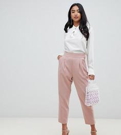 Зауженные брюки с завышенной талией ASOS DESIGN Petite - Розовый