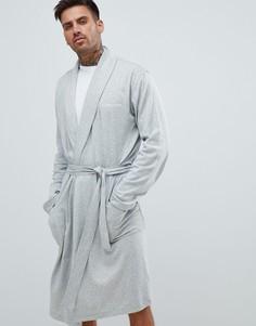 Халат из хлопка и модала Calvin Klein - Серый