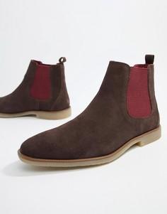 Коричневые ботинки челси Burton Menswear - Коричневый