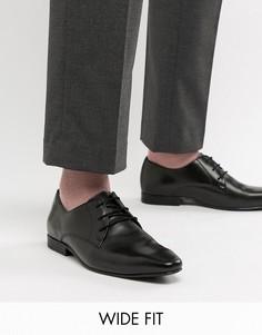 Кожаные туфли дерби для широкой стопы KG by Kurt Geiger - Черный