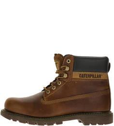 Коричневые ботинки из натуральной кожи Colorado Caterpillar