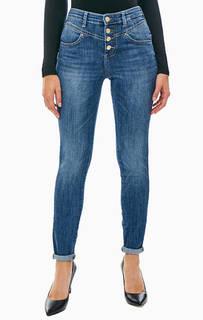 Синие джинсы скинни с высокой талией 1981 Guess