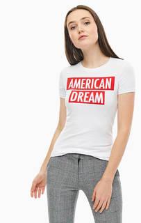 Белая хлопковая футболка с дополнительным чехлом для хранения Guess