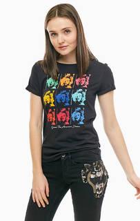 Черная хлопковая футболка в ярком футляре Guess