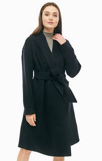 Шерстяное пальто с карманами и поясом Marciano Guess