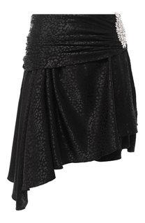 Мини-юбка асимметричного кроя с декоративной отделкой Dodo Bar Or