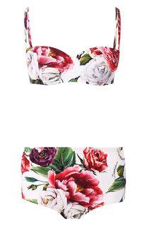 Раздельный купальникс цветочным принтом Dolce & Gabbana