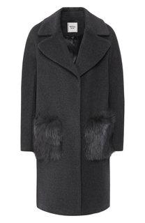 Пальто из смеси шерсти и кашемира с меховыми карманами Weill