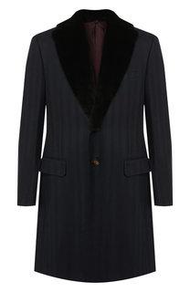 Шерстяное пальто прямого кроя Pal Zileri