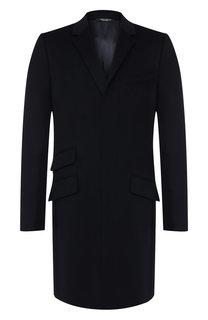 Однобортное пальто из смеси шерсти и кашемира Dolce & Gabbana