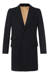 Однобортное пальто из шерсти Dolce & Gabbana