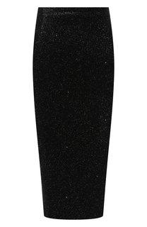 Юбка-карандаш с металлизированной нитью Versus Versace