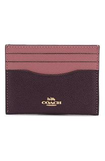 Кожаный футляр для кредитных карт Coach