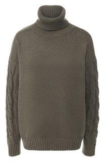 Вязаный пуловер из смеси шерсти и хлопка BOSS