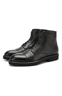 Кожаные ботинки на шнуровке BOSS