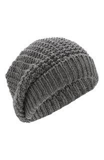 Шерстяная шапка фактурной вязки Inverni