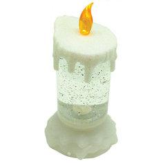 """Светильник-свеча GLOS """"Новогодняя метель"""" с RGB-светодиодами"""