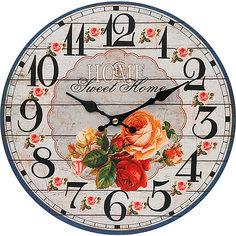 """Часы настенные """"Любимый дом"""", диаметр 34 см Белоснежка"""