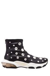 Черные кожаные ботинки Valentino