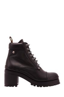 Ботинки с двухцветными шнурками Miu Miu