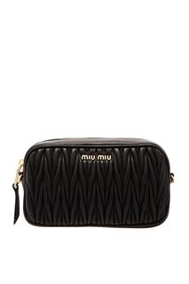 Поясная сумка с плетеным узором Miu Miu