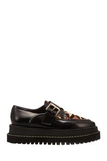 Черно-леопардовые туфли No.21