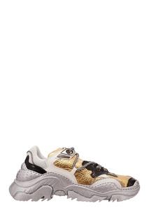 Черно-бело-золотые кроссовки Billy No.21