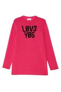 Розовый шерстяной джемпер RED Valentino